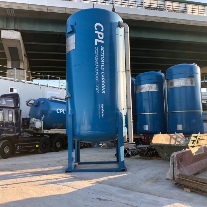 CPL Activated Carbons Mobile AquaSorber Carbon Filters at a Soil Remediation Project in France