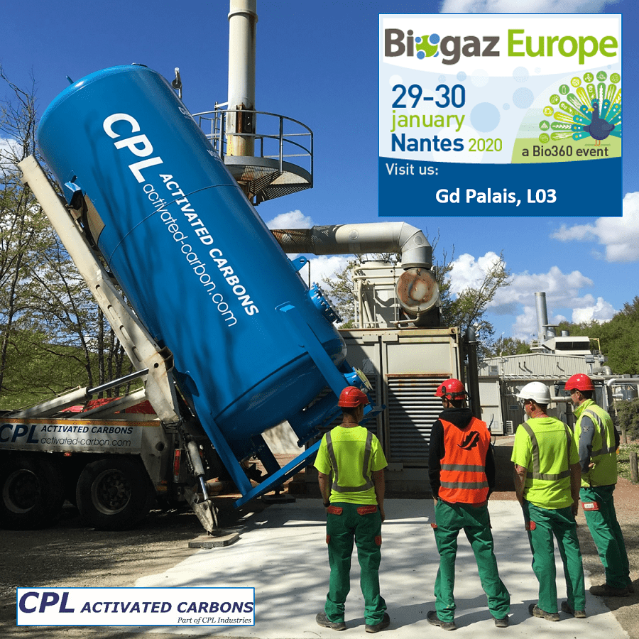 CPL Activated Carbons at Biogaz Europe, Nantes 2020. Stand L03