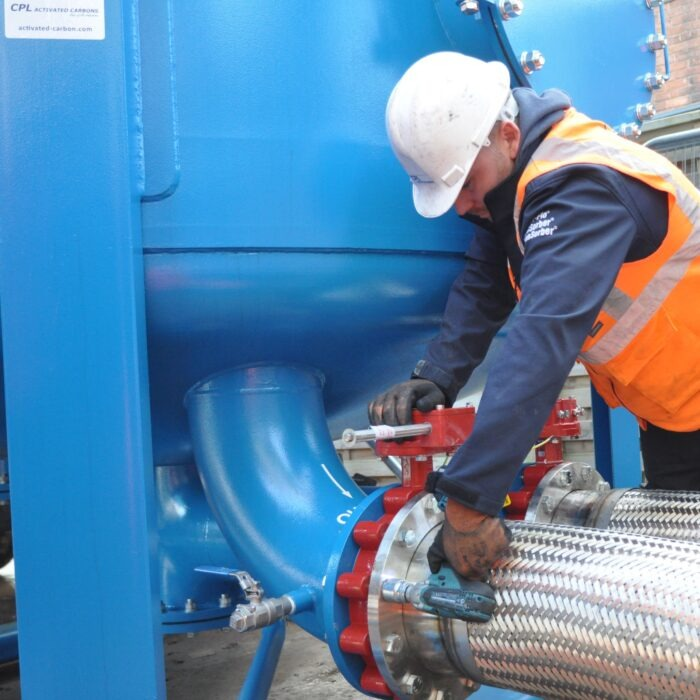 Sites Services installation of carbon adsorbers at LFG site.