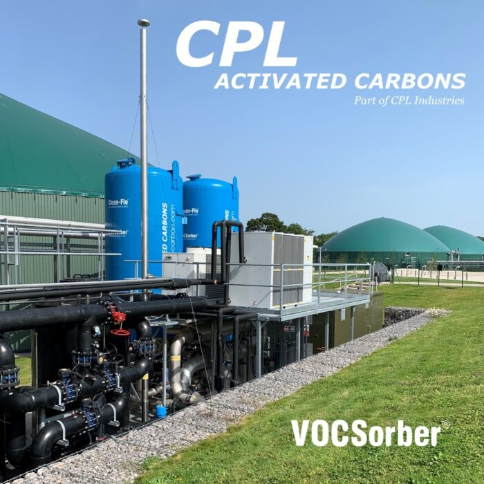 VOCSorber carbon filters at a large biogas facility