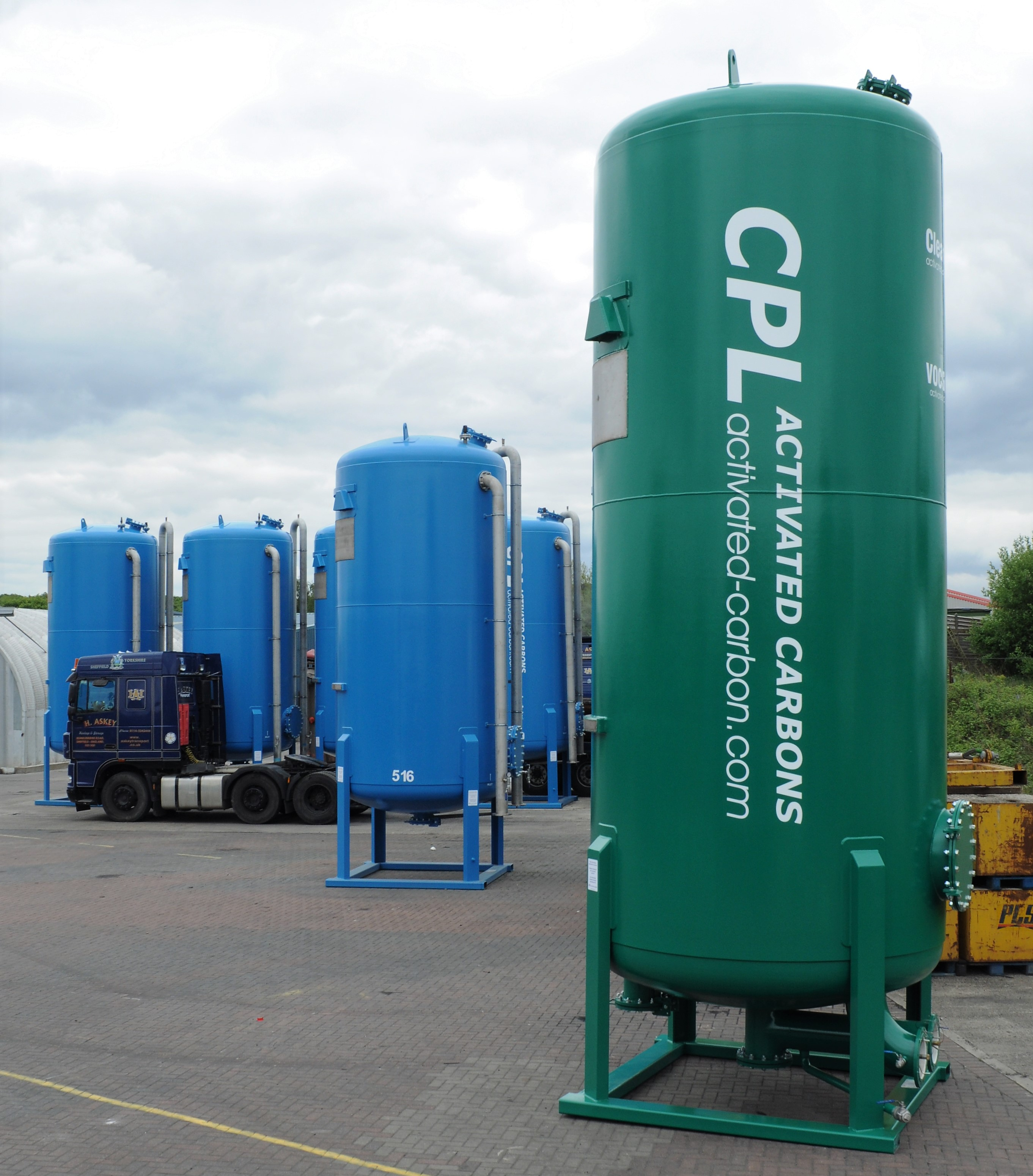 Clean-Flo 30m3 VOCSorber from CPL Activated Carbons, for biogas purification