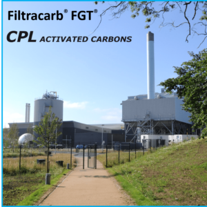 Powdered activated carbon (our Filtracarb FGT range) is used extensively in energy-from-waste EfW facilities for flue gas treatment. CPL Activated Carbons