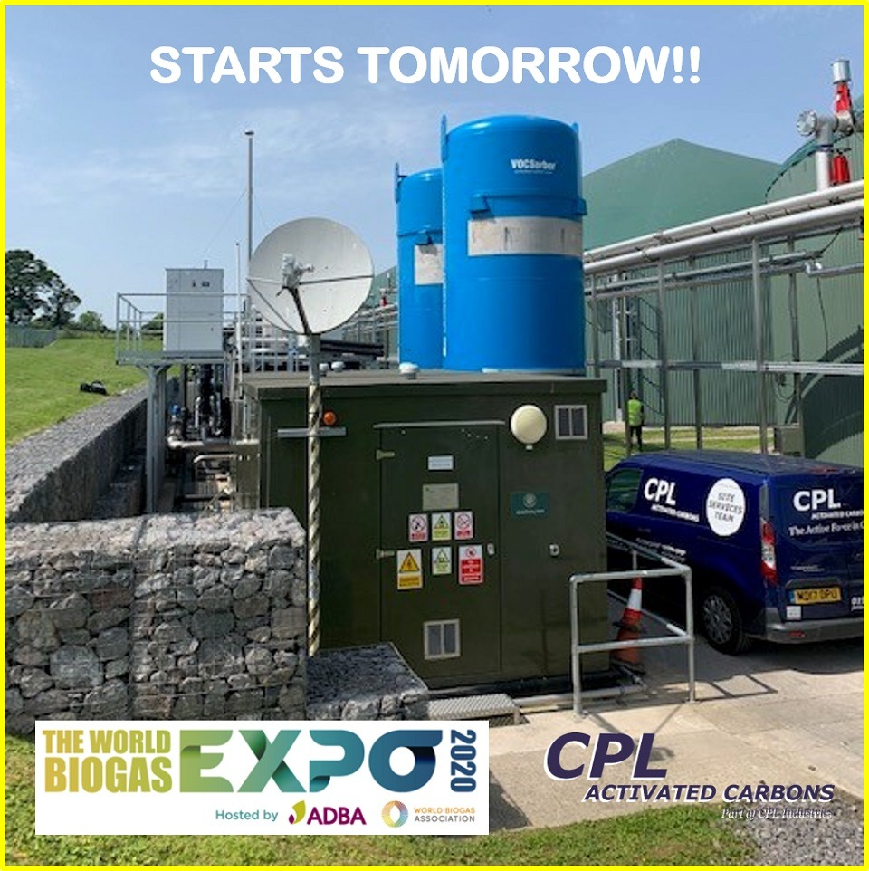The World Biogas Expo 2020 - CPL Activated Carbons