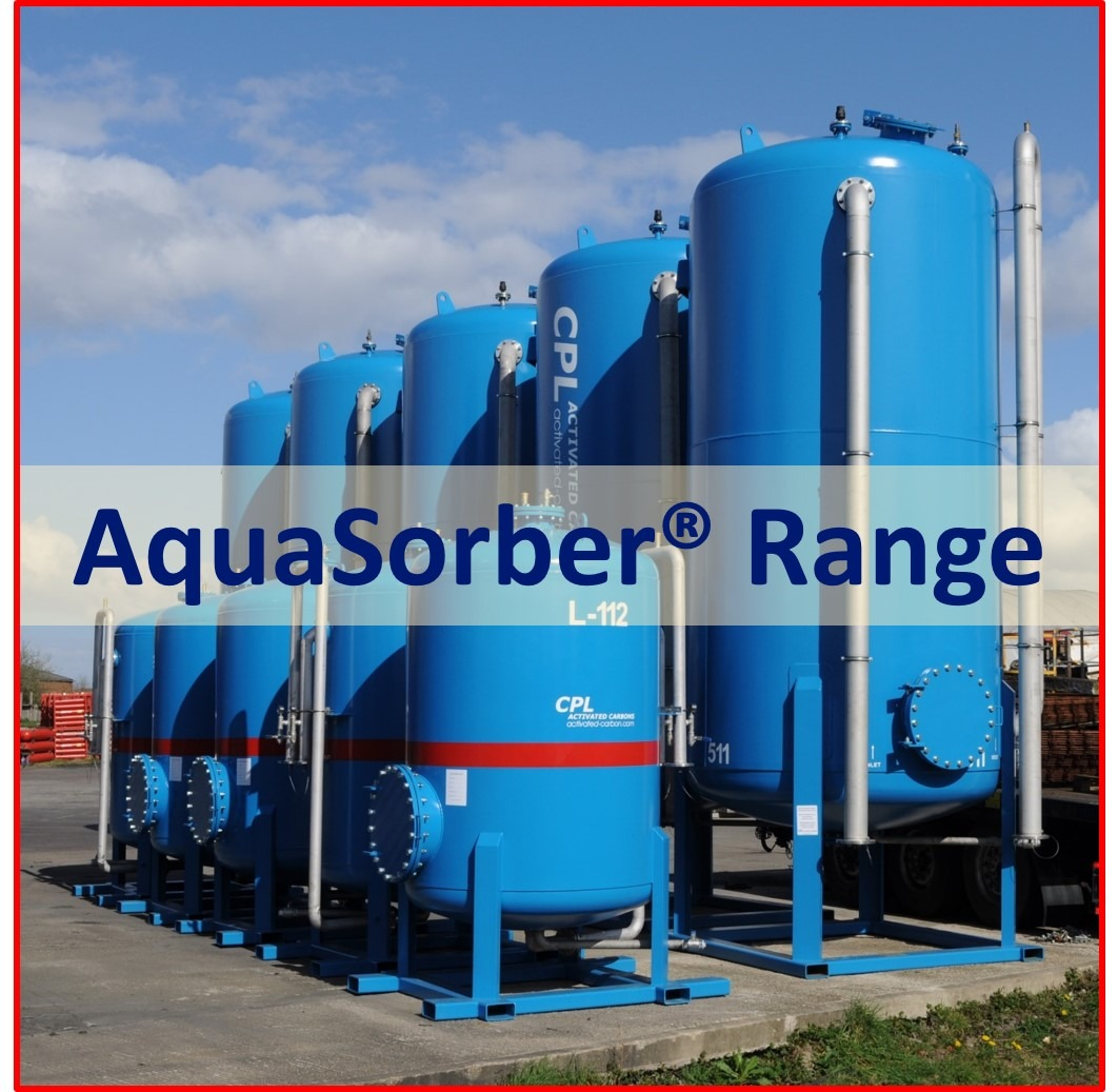 Liquid phase activated carbon mobile filter vessels